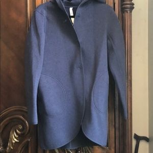 Lululemon blue reversible hooded cardigan